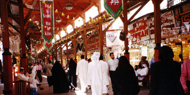 The old Dubai Gold Souk / Bazar