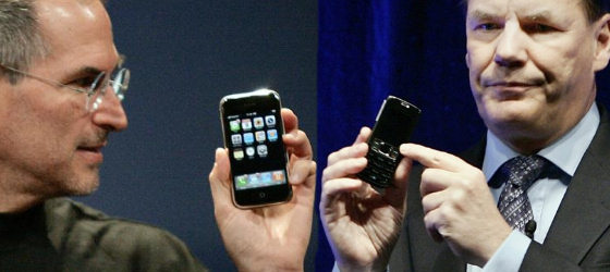 Nokia's CEO was never a match for Apple's CEO.