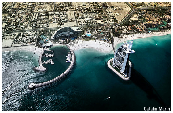 Bird's eye view of Burj AlArab, Dubai