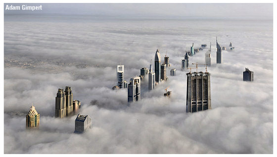 A walk in the clouds, Dubai