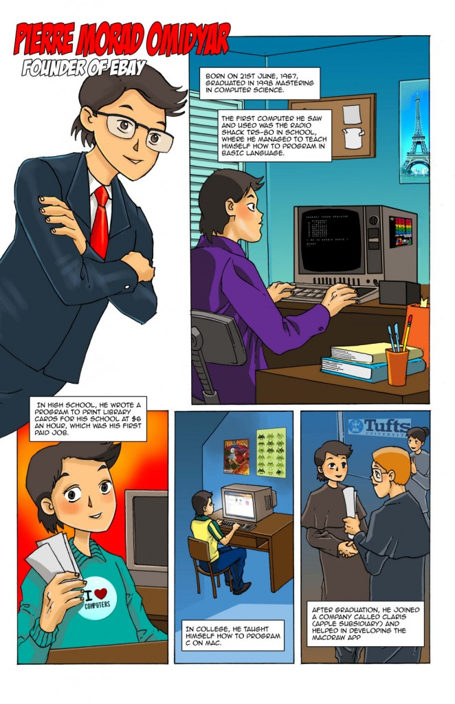 Page 1 of the Pierre Omidyar Comics