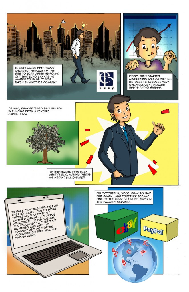 Page 3 of the Pierre Omidyar Comics