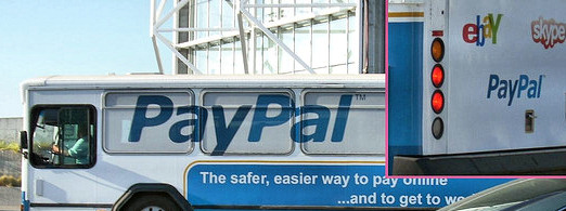 PayPal ads on buses in the US. @Flickr