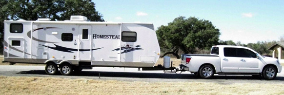 When towing a trailer, make sure your load is distributed appropriately for weight.
