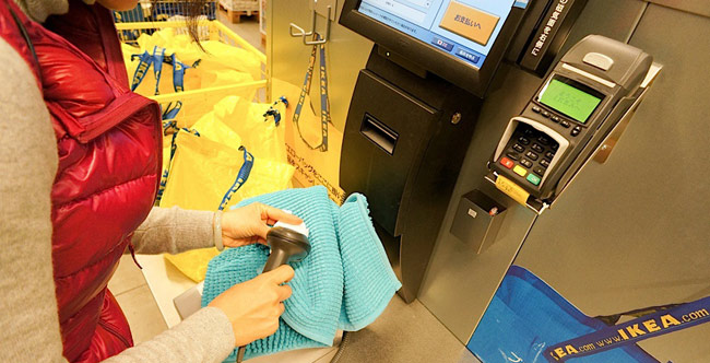 Self Checkout in IKEA Japan