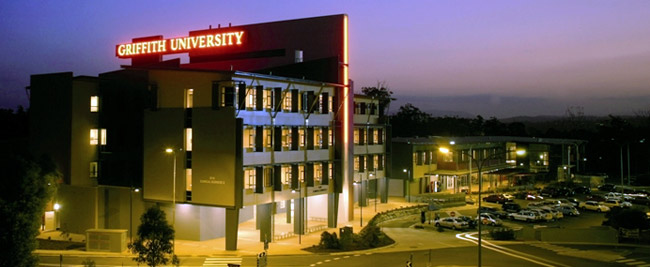 Griffith University, Brisbane, Queensland shinning at night!