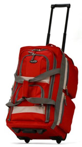 Topping my gifts for travelers list is the red Olympia Duffel Bag