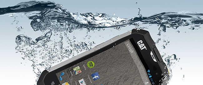 Toughest mobile phones - Caterpillar-CAT-B15-water
