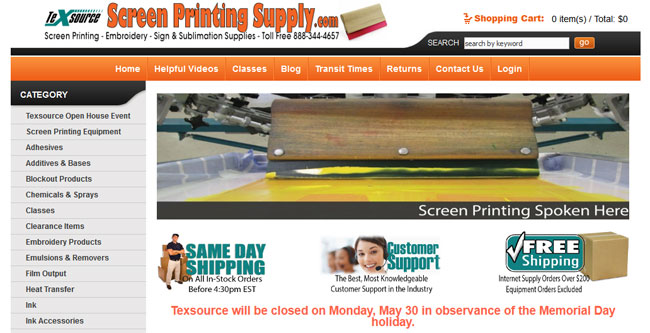 screenprintingsupply Online Store