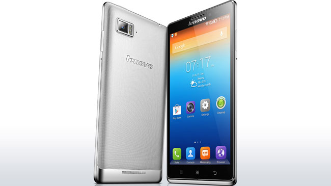 Lenovo Vibe Z front and back.