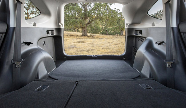 The Honda CRV 2015 offers 70 cubic feet with the backseat folded.