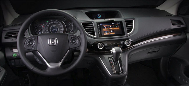 The Honda CRV 2015's Dashboard.