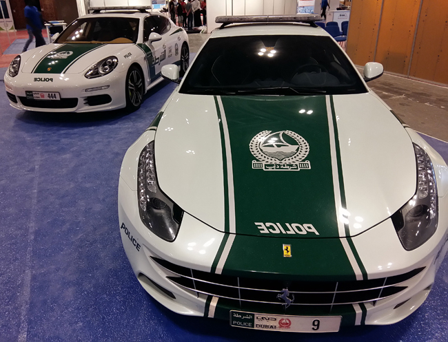 Dubai Police muscle cars captured by Samsung Galaxy A5
