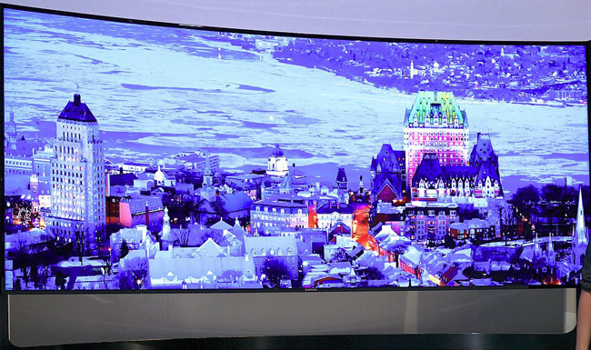 "The Samsung 105"" Panoramic Curved UHD TV"