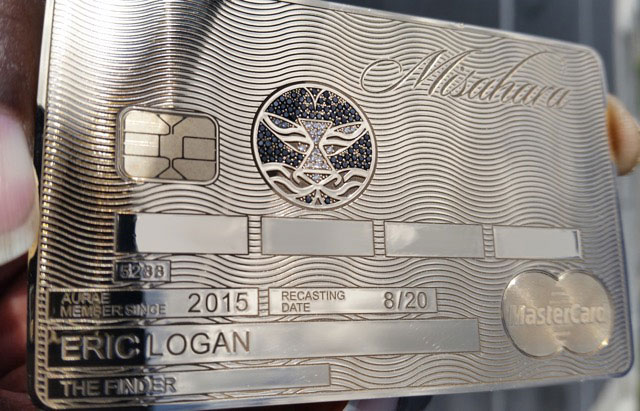 Another sample of Aurae's Real Gold Credit Cards