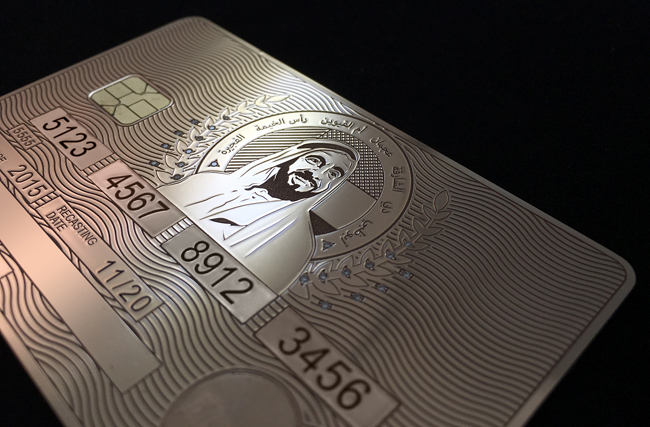 A sample of Aurae's Real Gold Credit Cards