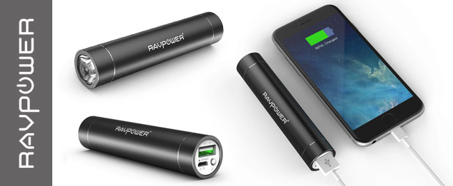 RAVPower acts as a Power Bank and a Flashlight