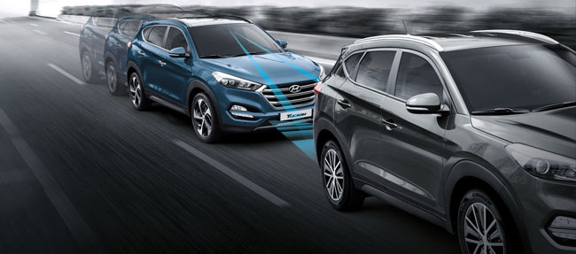 The Hyundai Tucson pits collision avoidance and mitigation braking, lane-keeping assist, rear cross-traffic alert and blind-spot detection