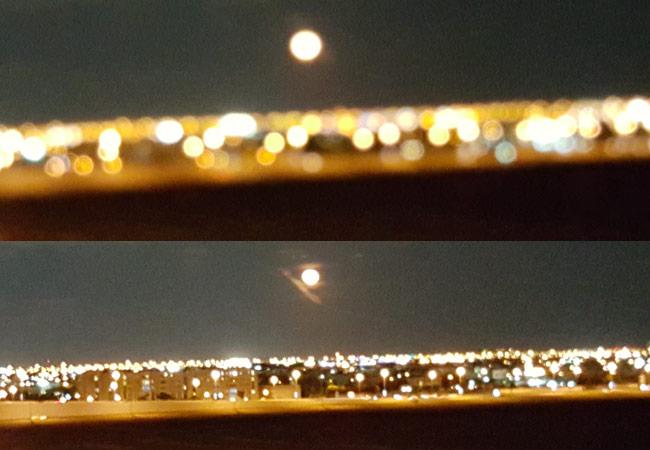 Samsung Note 5 failed to auto focus on the moon, even on the Pro Mode