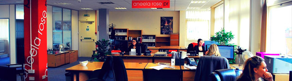 The girls of Aneela Rose PR are busy at work.