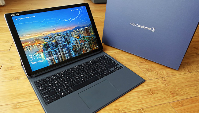 The Asus Transformer 3 Pro is almost as big as the Surface Pro 4