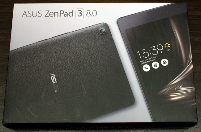 The box of the Asus Zenpad 3 8.0 @box.techbang.com