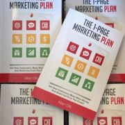 The 1-Page Marketing Plan book cover by Allan Dib