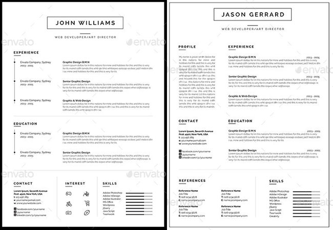 You can always buy professional CV templates on Graphicriver website >
