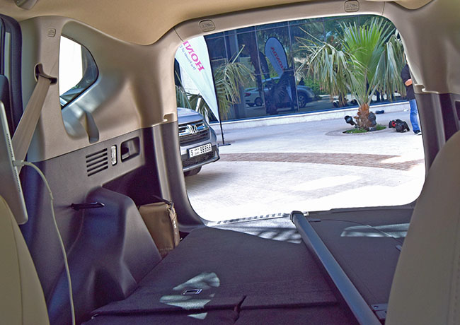 Folding the back seats is a breeze, instant storage space in a jiffy.
