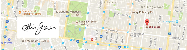 Ellis Jones Location on the map - Public Relations Agencies in Melbourne