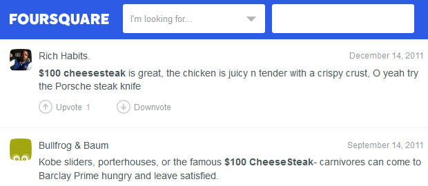 Flying colors praise in foursquare reviews!